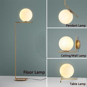 LED 현대 플로어 램프 펜던트 조명 테이블 램프 침실 유리 사무실 거실 벽 조명 피팅