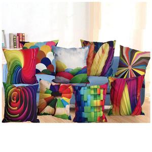 45 * 45 cm 3D Taie d'oreiller voiture canapé carré housse de coussin motif imprimé décoratif maison Throw taie d'oreiller en soie taie d'oreiller en lin HH-P10