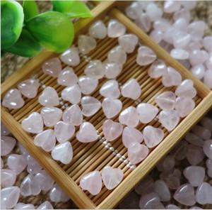Envío gratis 30 unids Natural Rose Quartz Beads diseño de la forma del corazón, tamaño 12x8mm vendido por bolsa