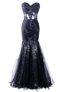 Appliques Perlés Robe Longo Sirène Robes De Soirée De Haute Qualité Chérie Tulle Celebrity Robes De Soirée Robe De Festa