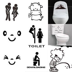 New Toilet Seat Wall Sticker Vinyl Art Wallpaper rimovibile bagno decalcomanie Decor