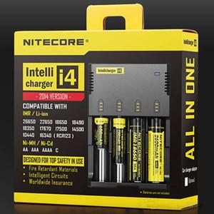 Nitecore I4 충전기 CR123A / 16340 / 18650 / 18500 / 14500 / 26650 용 범용 충전기 드롭 선박 4 대 1 Intellicharger 배터리 E 담배 재고 있음