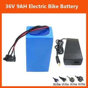 Recarregável 500W 36V bateria ebike 36V 9AH bicicleta elétrica da bateria de lítio com PVC caso 2A carregador 15A BMS