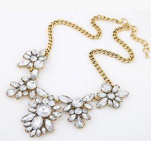 10pcs / lot nouvelle arrivée boutique en métal strass collier grandes filles bijoux wonmens collier Bubblegum 3919