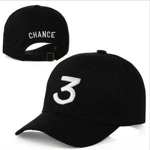 Популярная певица Chance The Rapper Chance 3 Cap Черная буква вышивка Бейсболка Хип-хоп Уличная одежда Snapback Gorras Casquette