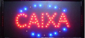 2016 New Arrival dircet selling manufacture 10x19 Inch running caixa led open sign led billboards wholesale