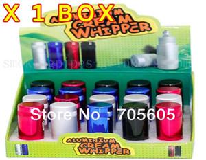 12 adet / grup Alüminyum Krem Whipper Alüminyum Kraker mix renkler ücretsiz kargo