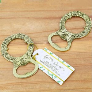metal Gold Wreath Bottle Opener for wedding favors bridal shower giveaways Free Shipping Creative 50pcs lot wholesale