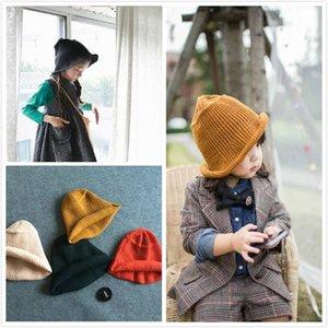 Envío al por mayor-libre modelos de moda chic pescador cálido sombrero de lana de punto sombrero coreano otoño invierno Bucket hat cap