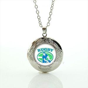 Raffreddare palla fan gioielli collana medaglione sport rugby squadra di calcio sporter personaggio foto uomini partito accessorio NF038
