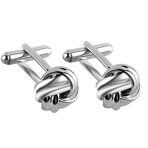 Funny Round Knot Design Cufflinks Silver Gold Hollow Cuff Links For Mens Women Cool Shirt Spinki Jewelry Male Cufflings Jewelry
