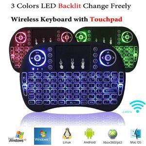 Rii i8 + mini drahtlose hintergrundbeleuchtung tastatur maus multi-touch hintergrundbeleuchtung für mxq pro m8s plus t95 s905 s812 smart tv android tv box pc