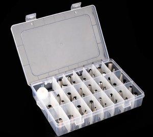 Торт украшения советы наборы 42 шт нержавеющей стали обледенения труб наконечник сопла с пластиковой коробке с муфтой