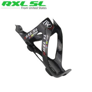 Al por mayor-RXL SL PRO Full Water Fiber Carbon Bottle Cage MTB / Bicicleta de carretera Titular de la botella de bicicleta piezas 3K 30g