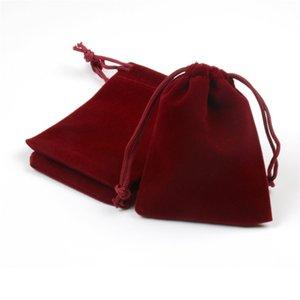 Piccolo velluto mp4 / mp3 / coulisse natale regalo di nozze borse borse sacchetti di stoccaggio 50pcs gioielli partito sacchetto del partito con favore stampato personalizzato 7x9cm GWJW