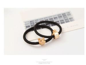 Accesorios para el cabello coreano Coreano corona de metal amor pelo anillo del pelo anillo de lazo de goma banda de goma banda Tousheng