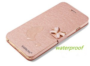 for iphone7 rhinestone flip phone shell silk pattern holster for Apple 6Plus new protective sleeve 6s shell drop resistance