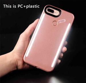 LED Light Phone Cas Téléphone Double Sides Light Battery Case pour iphone 7 6 6 s plus Note 7 Avec Retail Package