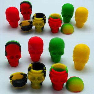 Qualidade Abelha Crânio Silicone Recipientes do coração Jars Silicone Container Para Oil Crumble Wax Silicone Jars Dab Wax Container