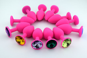 Ssilicone Toys Toys Sexy Anal Plug Anal Plated Bott Jewel Chainted Erotic Pink Toys Dilator Plug ThVJQ