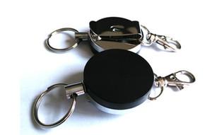 500 unids Retractable Tarjeta de Metal Titular de la Tarjeta de Retráctil de Acero Anillo de Cuello Clip Tire Llavero R066