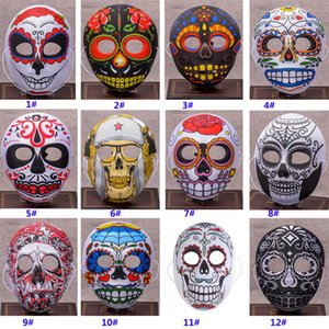 12 Diseños Nuevo Halloween Christmas Multicolor Masker Peking Opera Payaso Cosplay Party Fancy Stage Performance Máscara HH7-99