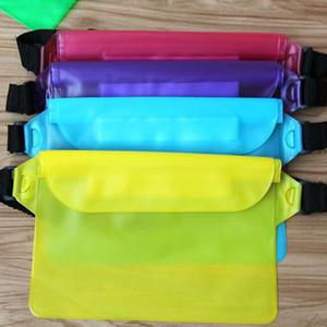 Al por mayor de PVC resistente al agua Natación Bolsas paquete de la cintura Bolsas Bolsas subacuático al aire libre del bolsillo de cubierta seco para teléfonos celulares
