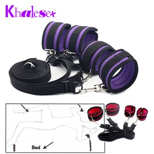 Sex Shop New Sex Bondage Underbed Restraints Fetish Kit Handcuffs Ankle Cuffs Sex Toys For Couples 2 Color Random Shipping