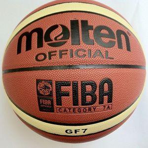 Envío libre fundida Baloncesto GF7, baloncesto Size7, baloncesto oficial, 1pcs / lot de la bola con la bomba de bolsas de malla + + 2pcs pasadores