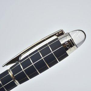 Sıcak satış - Yüksek kalite MB siyah metal ızgara Dolma kalem Lüks okul ofis malzemeleri ile yazma gibi pürüzsüz P ...