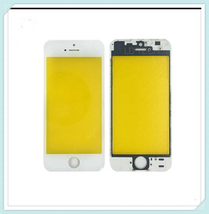 1 인치 냉간 프레스 전면 유리 렌즈 + 중간 프레임 베젤 교체 용 iPhone 5S 5C 5G 터치 스크린 패널 외부 유리 무료 배송