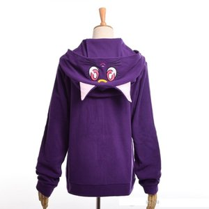 Kukucos Sailor Moon Luna Girls Harajuku Cosplay Costume Hoodie Sweater Outfit Sweatshirt Cosplay Costume Best Gift For Jung Stundent
