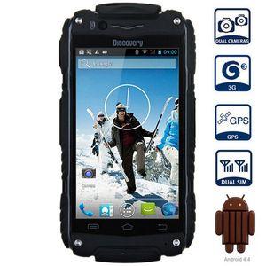 Entdeckung V8 4.0 '' Android 4.4 3G Smartphone IPS MTK6572 Doppelkern WiFi GPS wasserdichtes Shockproof 4 GB ROM 5MP mobiler Handy