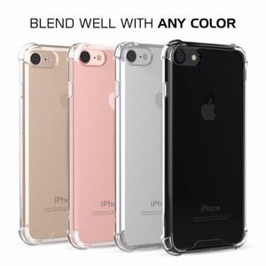 Антидетонационные мягкие TPU прозрачная крышка четыре угла противоударный мягкие чехлы для iPhone X 6 S 7s плюс 8 плюс для Samsung Galaxy S8 LG G6 LS775 Huawei P10