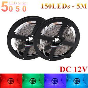 Striscia di RGB LED SMD IP20 5050 luce del nastro 5M 150LED LED 30LED / M DC12V luce flessibile LED