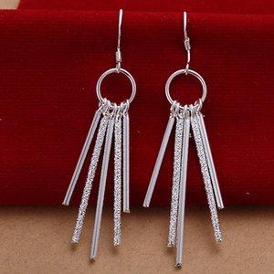 Schmuck Frauen Sterling-Geschenke en gros 925 Art und Weise für Silber / lotFree Ohrringe 10Pairs überzog Verschiffen E026 Prlwn