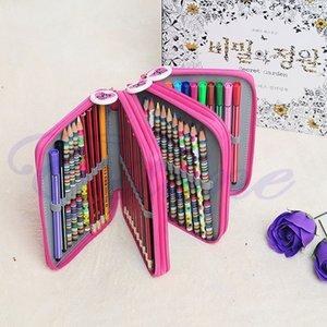 New Design Desenho portátil Esboçando Lápis Pen Titular Caso Bag Para 52Pcs Lápis Novo