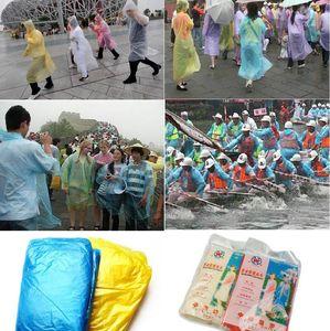 New Fashion One-time Raincoat Hot Disposable PE Raincoats descartável Poncho Rainwear viagem Chuva revestimento de chuva Wear IA527