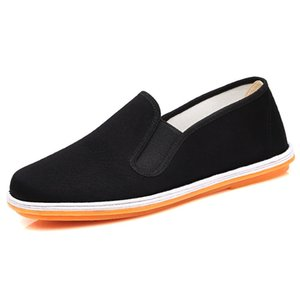 Handmade Middle-aged black Casual Deodorant light cloth shoes for men