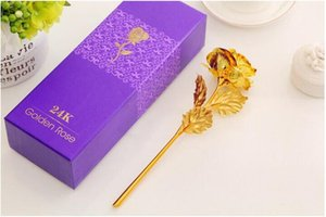 New Style Single Rolled Gold Rose Creative Gift Goldleaf Flowers For Valentine's Day Love Romantic Present