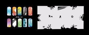 2017 neue Mode Airbrush Nagel Schablonen Set 101-110 Werkzeuge Diy Airbrushing 10 x Schablonenblatt für Airbrush Kit Nail art Farbe