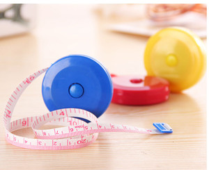 free shippingSoft foot tape measure retractable plastic candy-colored cartoon metric measurements meter stick ruler measuring tape black eye
