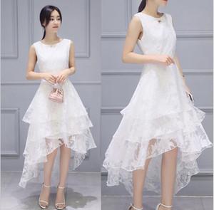 High quality simulation silk clothes in summer high quality pure white bud silk dress dress wholesale 2 xl fashion women's choice