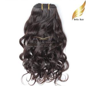 Bella Hair® 8A Brezilyalı Saç Örgü İşlenmemiş Doğal Renk Doğal Dalga Dalgalı Saç Uzantıları Çift Atkı 8 ~ 30 inç 2 adet / grup Ücretsiz Kargo