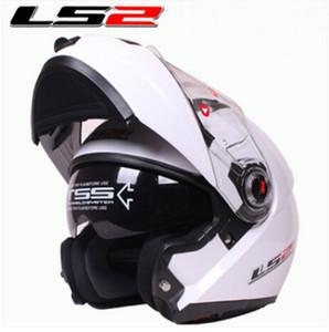 ECE LS2 undrape capacete rosto capacete cheio de cara com materiais compósitos cor branca Capacete da motocicleta Off capacete Road Ls2 FF370 capacete