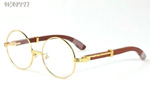 corne de buffle lunettes de soleil en bois pour les hommes 2020 de haute qualité à ossature de bois de bambou attitude sport Medusa brun lentilles claires lunettes de soleil rondes