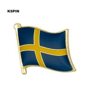 Kostenloser Versand der Sweden Metal Flag Badge Flag Pin KS-0148
