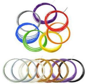 2016 DIY 3D Yazıcı ABS Filament 10 M 20 Renkler 1.75 MM Renkli 3D Çizim Kalem Filament Plastik Kauçuk Sarf 3D Yazıcı Kalem Filament