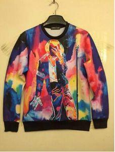 Atacado-Novo estilo harajuku Michael Jackson camisola mulheres / homens de impressão 3d pullover hoodies camisolas hip hop casual camisas longas tops