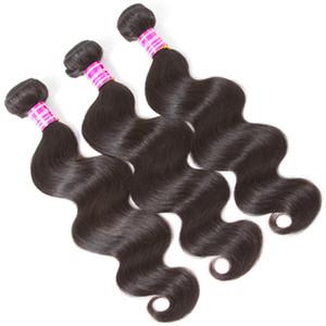 Pas cher 8a Brésiliens Cheveux Vierges Vendeurs Trames De Vagues D'eau Non Transformés Droit armer faisceaux Remy Deep Wave Extensions de cheveux Humains humides